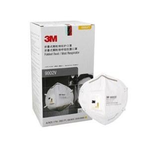 3M环保装折叠式带阀防护口罩(头戴式)-25只/盒