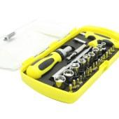 宏远/HOLD-29件套旋具套筒组套(透明塑盒)29件