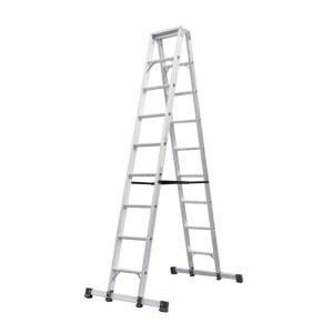 宝富铝合金A型梯全长:5.0m   自重:46.6(加可収缩三脚支撑)