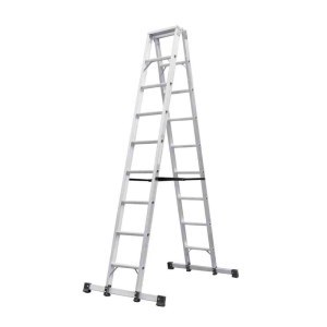 宝富铝合金A型梯全长:4.5m   自重:27.3kg