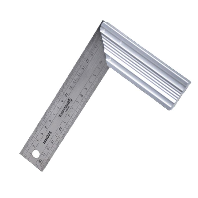 钢盾 铝合金底座 不锈钢角尺 115x200mm/1把